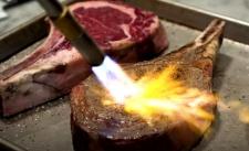 LPG blowtorch on steak